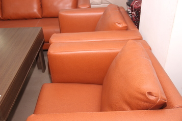 buy Leather Puzzle 5 Seater Sofa Set