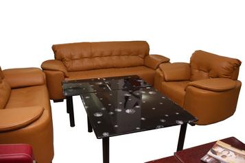 buy Tej 7 Seater Leather Sofa Set