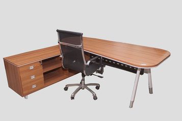 buy Alibert Wooden Curvy Office desk