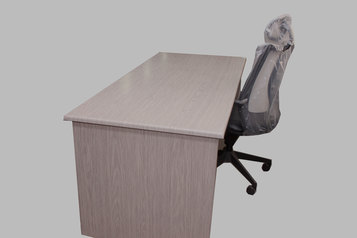 buy Square Office Desk with Drawer Box PVC 36