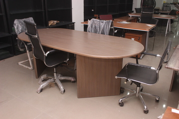 buy Oval Alibert office desk with a side return #4060