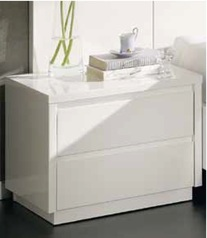 White highgloss night stand with drawer 2.index