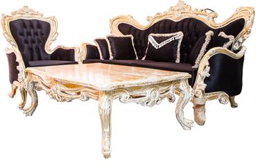 buy Oscar  Royal 8 Seater Sofa and Center Table