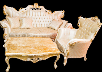 buy Royal Golden gate 8 Seater Sofa with Center Table