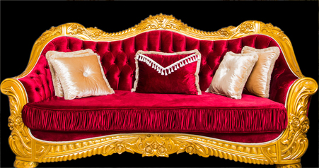buy Royal Red Classico 8 Seater Sofa with Center Table