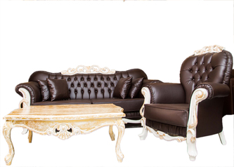 buy Royal Black shadow  8 Seater Sofa with Center Table