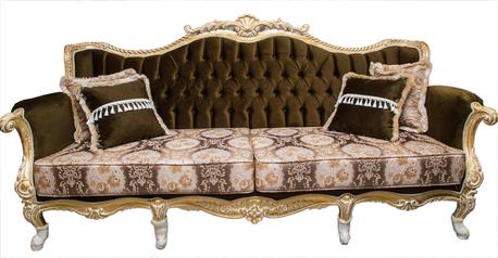 buy Royal  Green velvet  8 Seater Sofa and Center Tabl