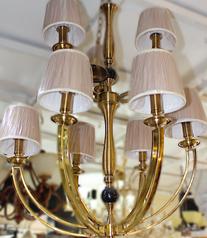 buy Gold Cast 9 Light Lamp Chandelier - 13789/9