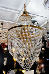 buy Stoned 6  Light Crystal & Gold chandelier - MD 6005/12GD