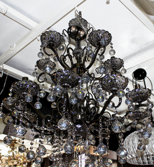 buy Crysal 15  Light glass chandelier - 1811/10+5