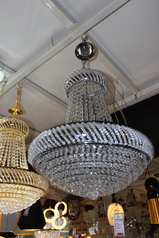 buy LED Silver cast Ball chandelier - 8885/500