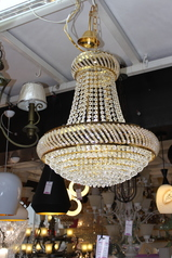buy LED Golden cast ball chandelier - 8885/500 LED GD