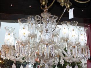 buy Crystal Glass 18  Light  Chandelier- MD6033/12+6