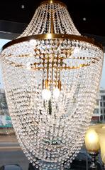 buy Stoned Gold Cast 3  Light  chandelier - MD600512BNN