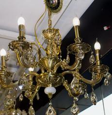 buy Rivaldo Gold cast 3  Light Chandelier - MD80116L