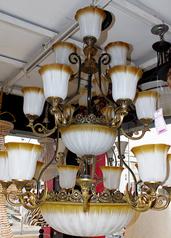 buy Bronze and Crème antique Chandelier - P808 100 * 180