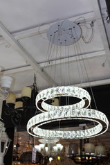 buy Crystal Drop Hoop Light -MD1604016 W