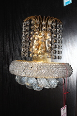 buy Gold & Crystal Wall Light - B6905