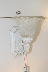 buy White Royal Brown Wall Light - A2499WGS/1