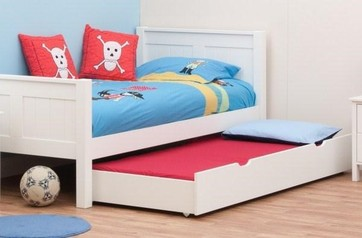 Toddler bed with under sleepover extra bed.index