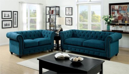 buy Blue Fabric Sofa (Complete set) - 17F24.024
