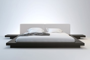 buy Wena Platform Bed With Headboard Padded  - 17C14.015