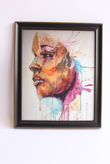 buy Colorful Face Dripping Art (Side View) 16x20