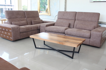 buy Light brown recliner sofa set (2 singles)