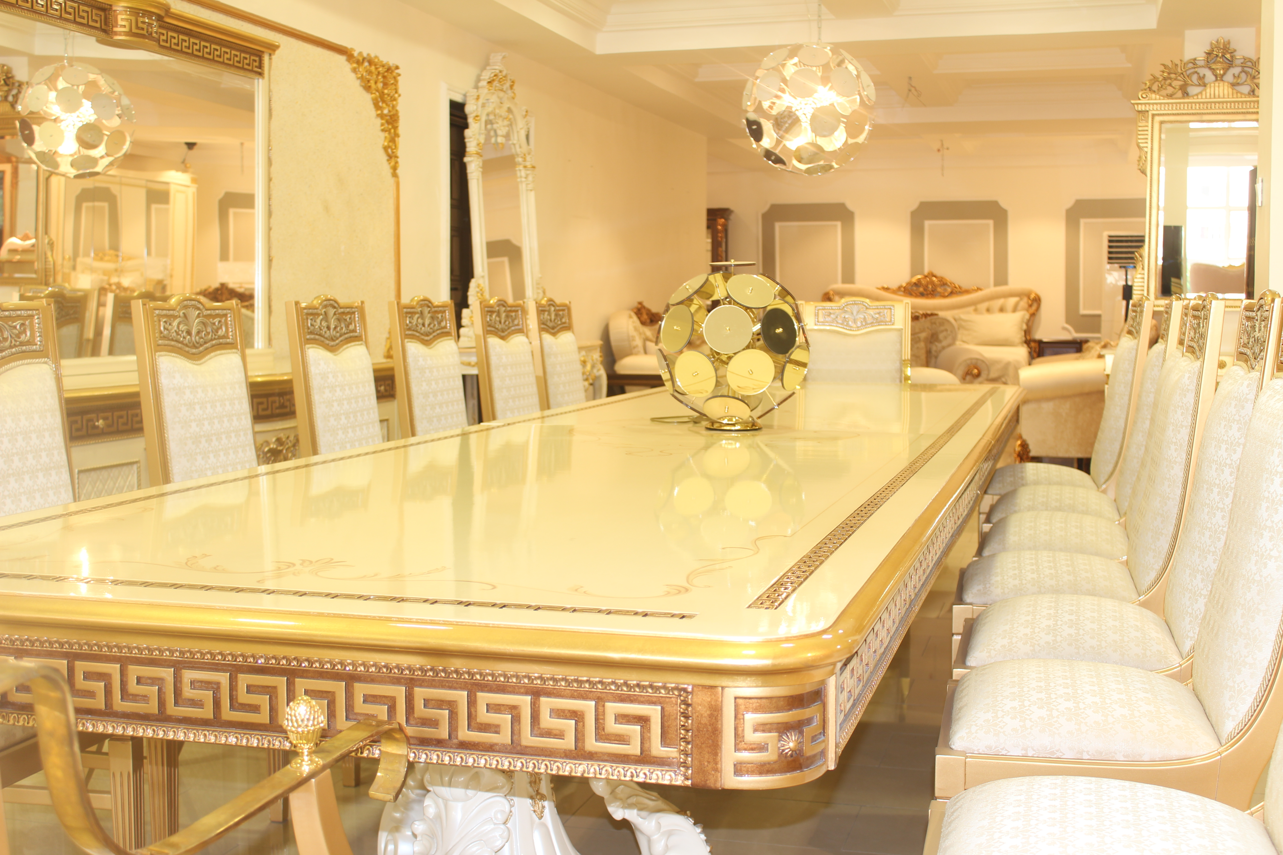Grand 16 Seater Armada Versace Dining Room Set on homewox