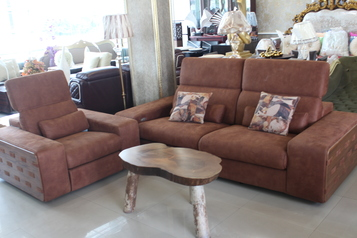 buy  Brown recliner sofa set (7 sitters & center table)