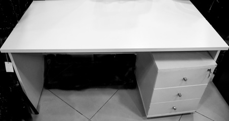buy Grey Manager Table (140x70) 1.4 Mtr