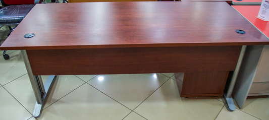 buy Wooden Manager Table with Metal Legs (180x80)