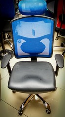 buy TOS A/729 Mesh Back, Leather Seat Swivel Chair Blue