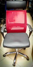 buy Mesh Back, Leather Seat Swivel Chair TOS A/945 Burgundy