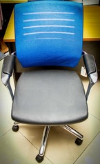 buy Mesh Back, Leather Seat Swivel Chair TOS A/995 Blue