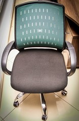 buy Mesh Net Plastic Swivel Chair TOS A/789 Green