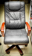 buy TOS A/2014 Real Leather Seat with Wooden Arm