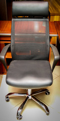buy TOS A/945 Mesh Back, Leather Seat Swivel Chair