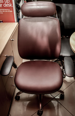 buy TOS A/768 Brown Real Leather Seat & Back Chair