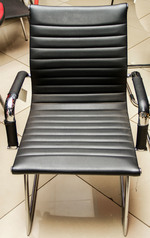 buy TOS A/775 Black Leather Executive Visitor Chair