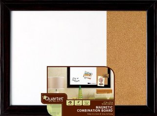 buy  Quartet 1903922 Cork Board Black Frame Combination Calender