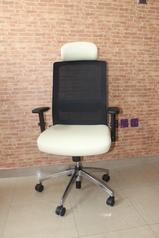 buy Oasis white & Black Office Single Chair 09