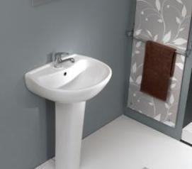 Erg004 riga basin 54 cm with semi pedestal. %2828 500.00%29.index