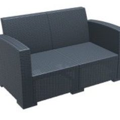 Lugano outdoor two seater sofa black.index