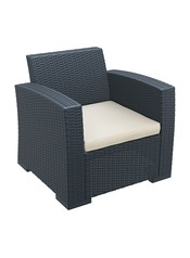 Lugano outdoor one seater sofa blackbeige.index