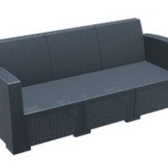 Lugano outdoor three seater sofa black.index