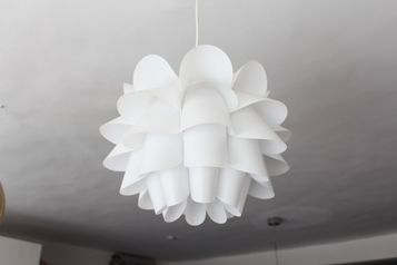 buy Designer Pineapple Shape Indoor Chandelier in White Finish