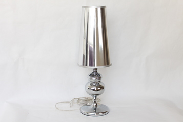 buy Silver High Gloss Table Lamp