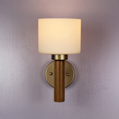 buy Traditional Wooden Base Wall Light