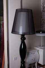 buy Double Shade Black and White Lamp